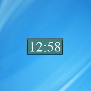 how to add a clock to window 8 desktop
