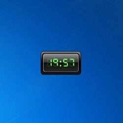 CX Digital Clock - Free Desktop Gadgets For Windows 10