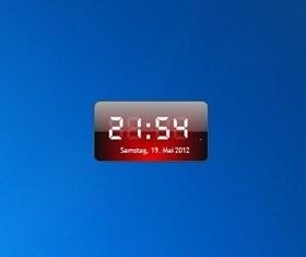 Digital clock - Free Desktop Gadgets For Windows 10, Windows 8