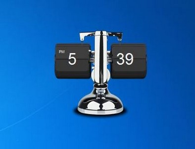 Metallic flip clock 2. 0 free desktop gadgets for windows 10.